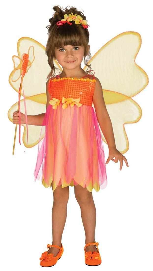BUTTERFLY TODDLER GIRLS FAIRY FANCY DRESS CHILDREN PARTY COSTUME 2-4