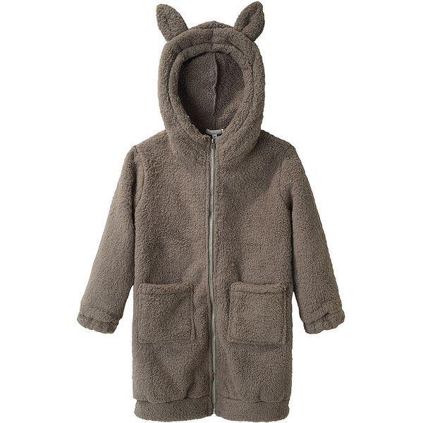 Talc Long Fleece Hoodie. (8.465 RUB) ❤ liked on Polyvore featuring tops, hoodies, jackets, kids, outerwear, zip up hoodie, hooded zip up sweatshirt, long sleeve hoodies, fleece hoodie and long sleeve hoodie