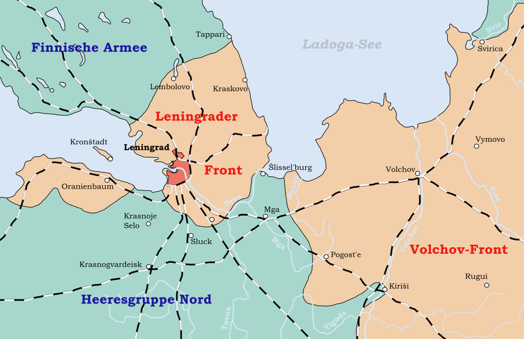 Map of the Siege