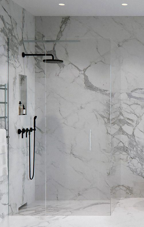 Pin By Lola Finney On Marble Bathroom In 2020 Bathroom Interior Design Modern Bathroom Design Marble Shower Walls