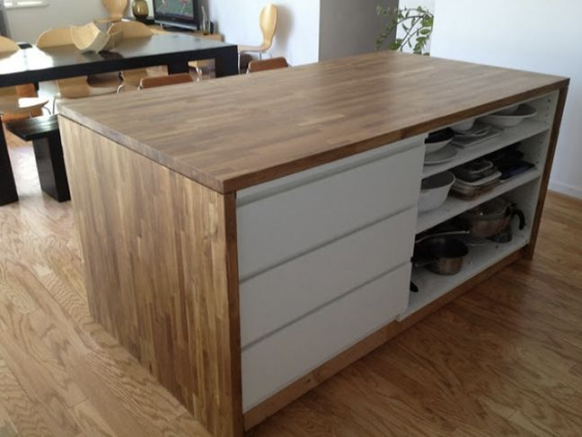 Malm Kitchen Island DIY