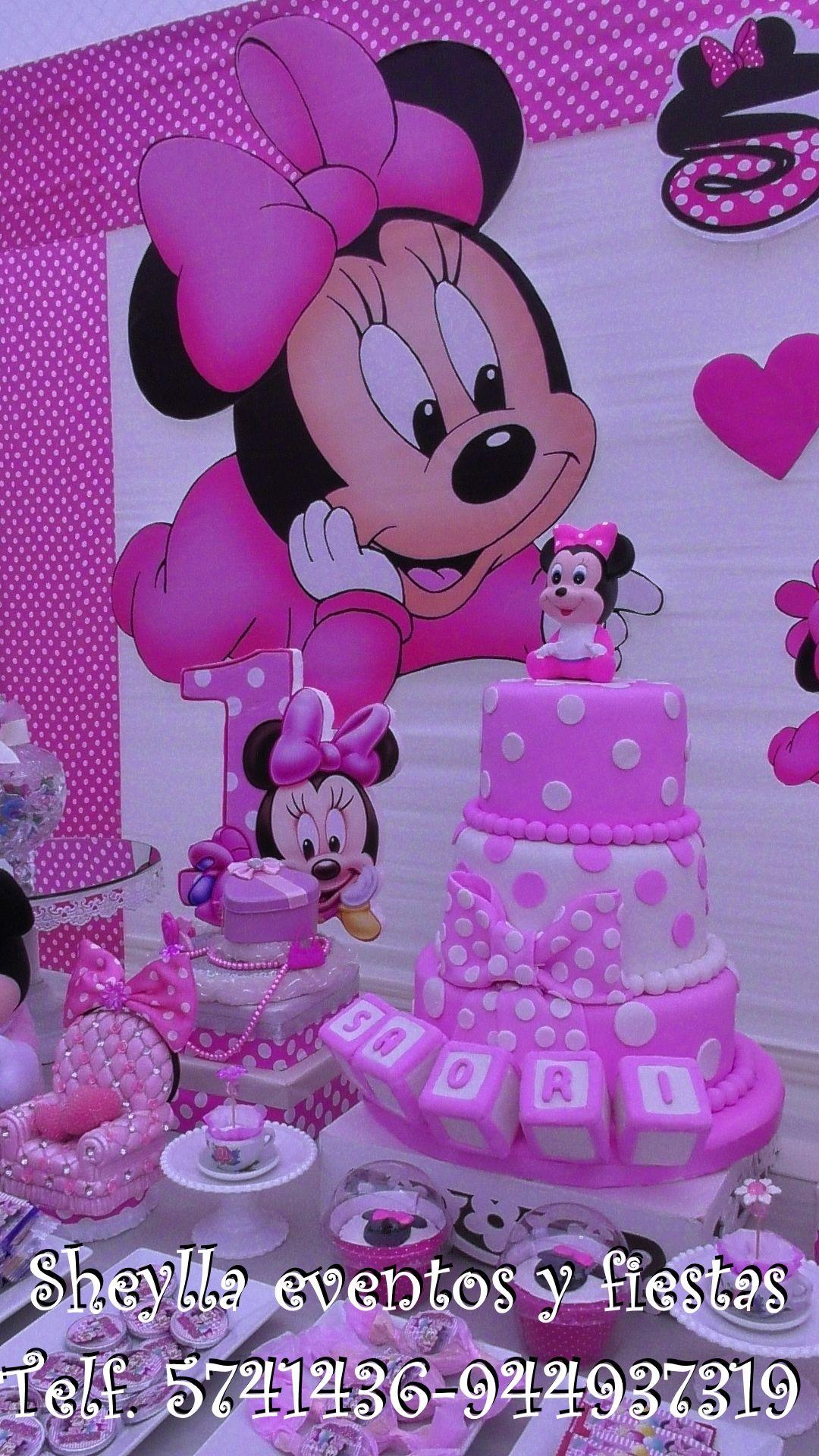 torta, decoracion, Minnie