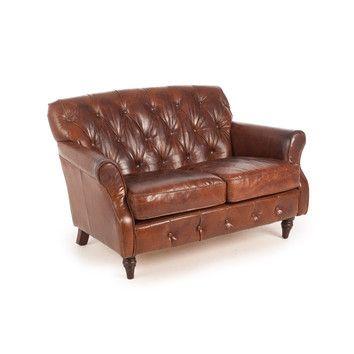 Enjoyable Chesterfield Sofa Small Leather Sofa 2 Seater Sofa Sofa Ibusinesslaw Wood Chair Design Ideas Ibusinesslaworg