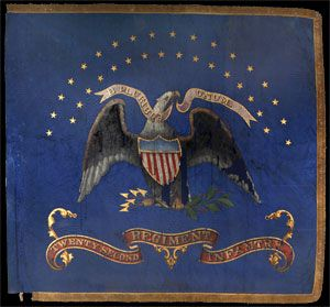 Regimental flag of the 22nd New York Volunteer Infantry