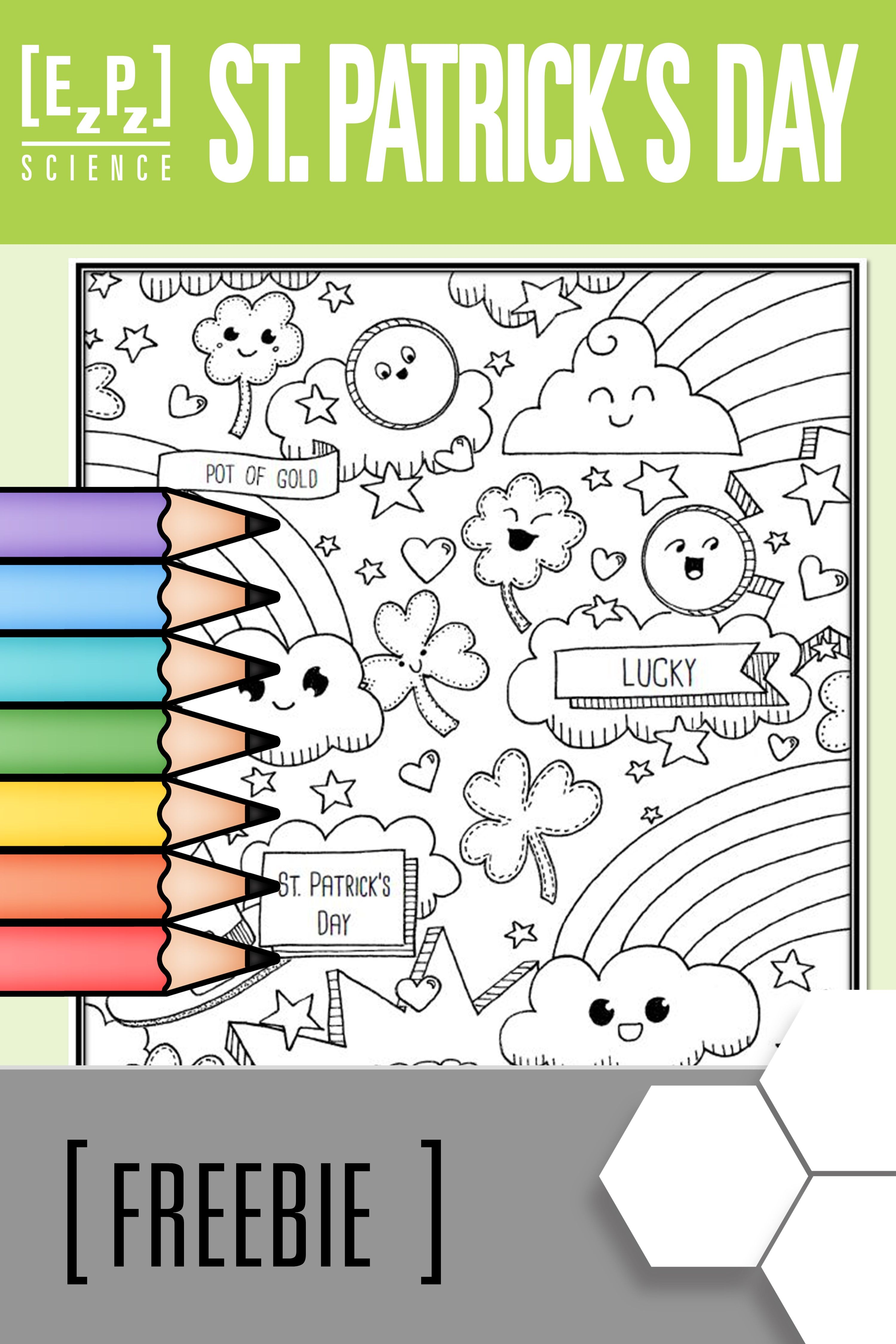 Rainbow Coloring Page ~ Kids dream of rainbows with pots of gold ... | 4500x3000