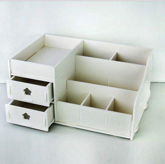 Escritorio en casa de madera diy caja de almacenamiento - Organizador escritorio ...