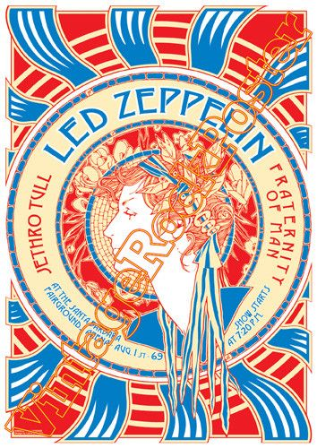 Led Zeppelin Jimmy Page Robert Plant John Bonham John Paul Jones Led Zeppelin Poster Led