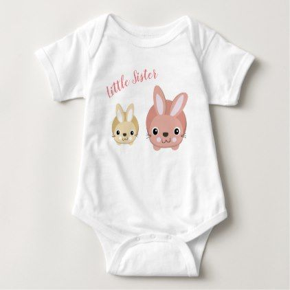 Little Sister Baby Vest Baby Bodysuit Baby Shower Ideas Party