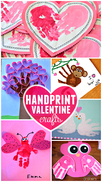 handprint valentine crafts for kids  Toddler Times  Pinterest