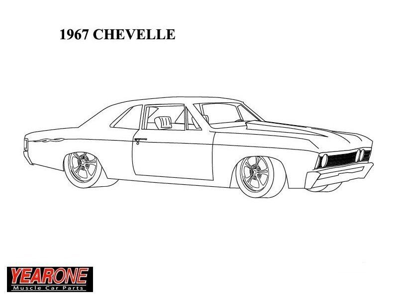 1967 Chevelle Cars Coloring Pages Art Cars
