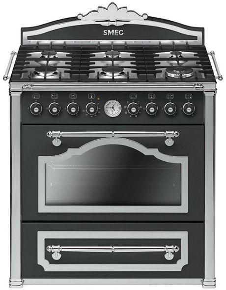 The 90cm wide, 6-burner Smeg vintage Cortina range cooker comes in ...