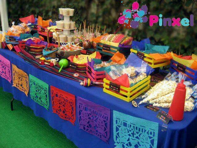 table of mexican candy