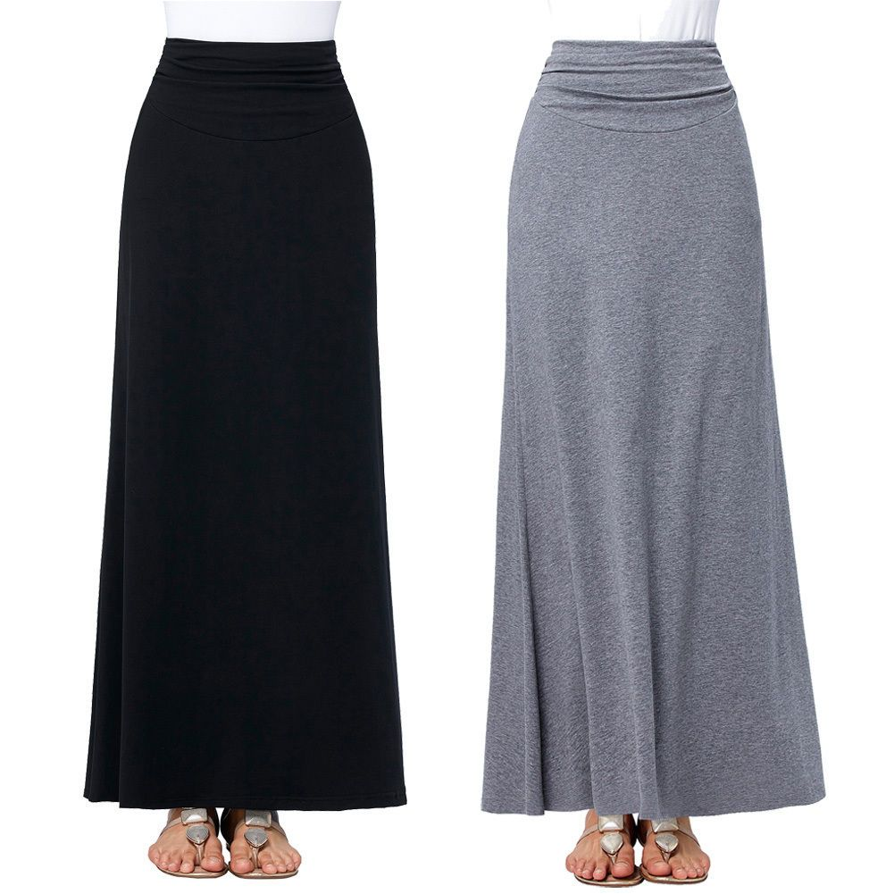 Women Ladies Jersey Long Printed Maxi Skirt Gypsy Stretchy Skirt Plus Size 8-26