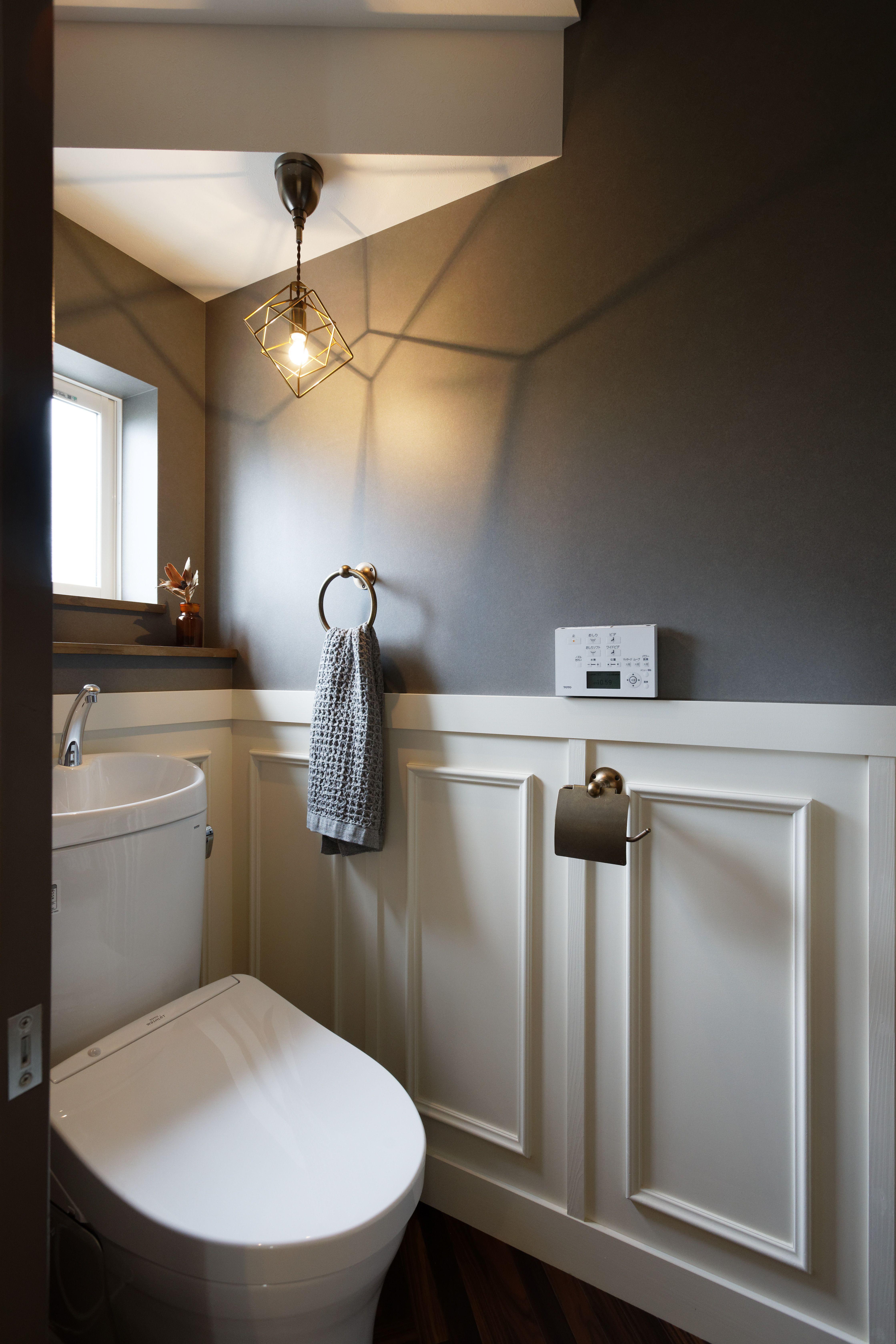 絵本からでてきたような夢いっぱいのお家 ゼストの写真集 倉敷市 注文住宅 工務店 トイレ インテリア 現代的なバスルーム バスルーム インテリア