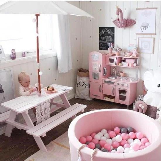 30 Inspirasi Desain Tempat Bermain Anak Di Dalam Rumah Kamar Bayi Perempuan Kamar Main Anak Ruang Bermain Anak
