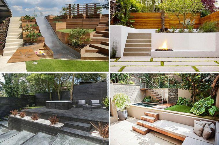 am nagement cour ext rieure sur plusieurs niveaux jardin. Black Bedroom Furniture Sets. Home Design Ideas