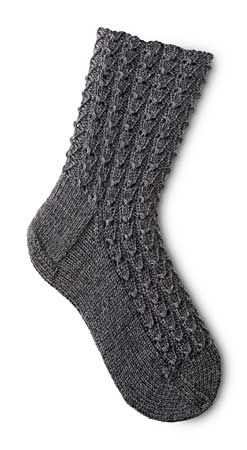 Mock Croc Socks free download knitting Pattern