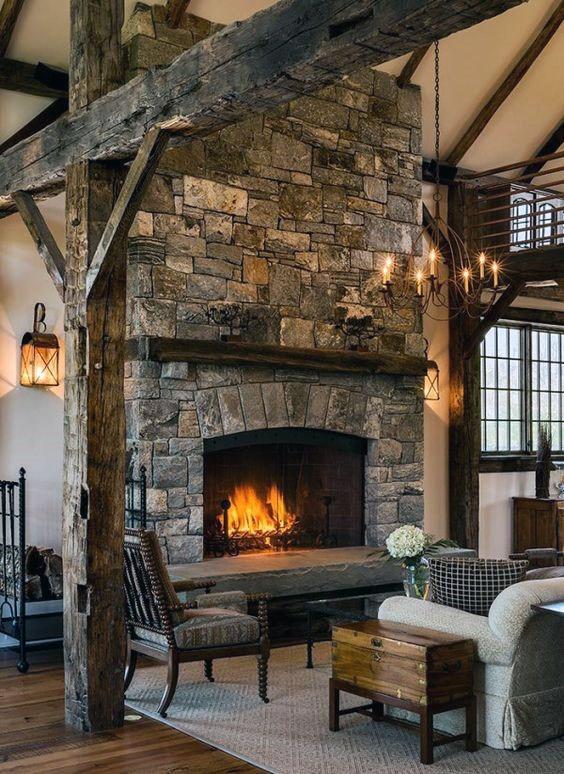 Stone Fireplace Design Ideas, Awesome Stone Fireplaces