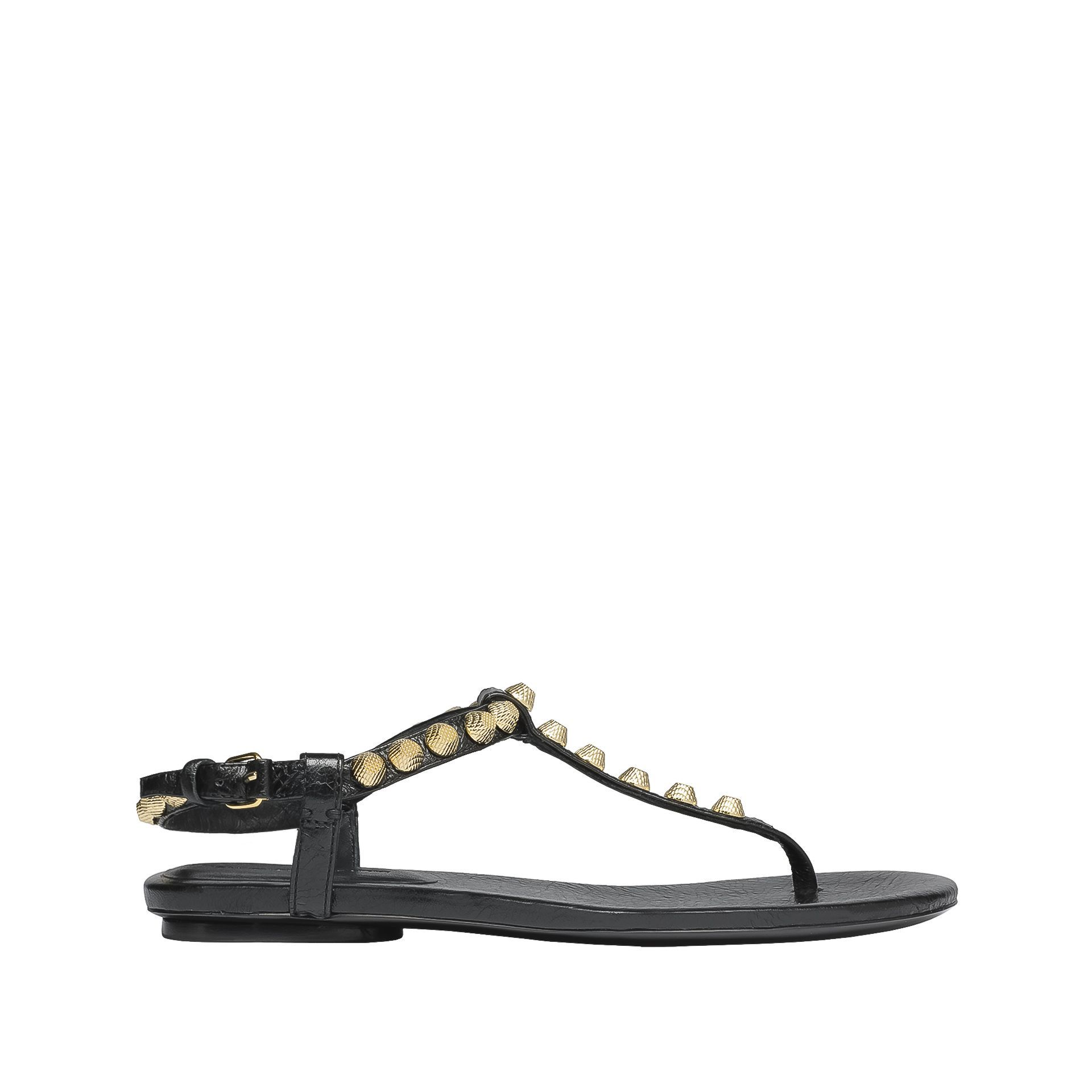 Giant gold sandals - Black Balenciaga