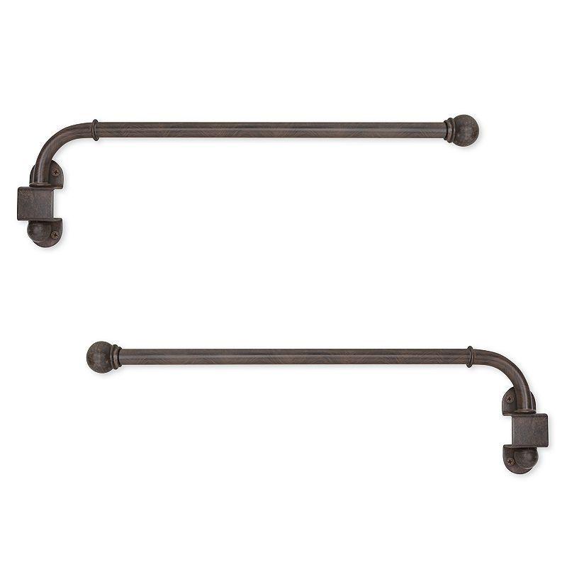 Swing Arm Adjustable Curtain Rods   24u0027u0027   38u0027u0027, ...
