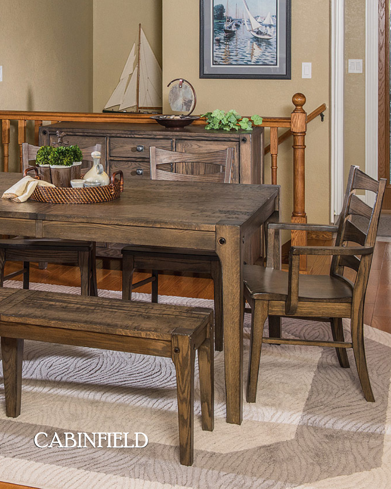 An Amish Dining Table Set That Mixes Both Traditional And