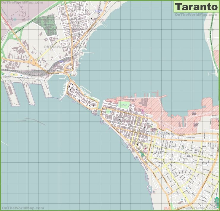 Large detailed map of Taranto Maps Pinterest Italy and City