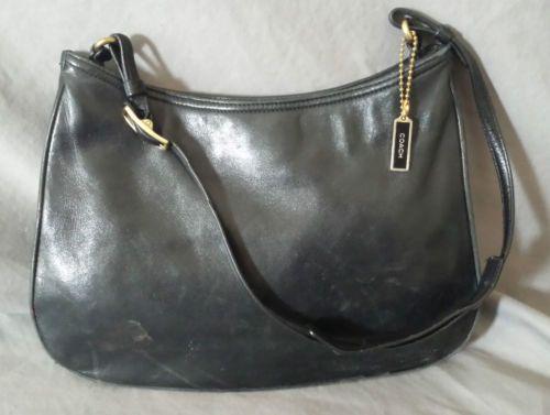 COACH GIRL NAPPA HOBO BAG LAMB NAPPA HANDBAG BLACK #8165 $198 *AUTHENTIC*