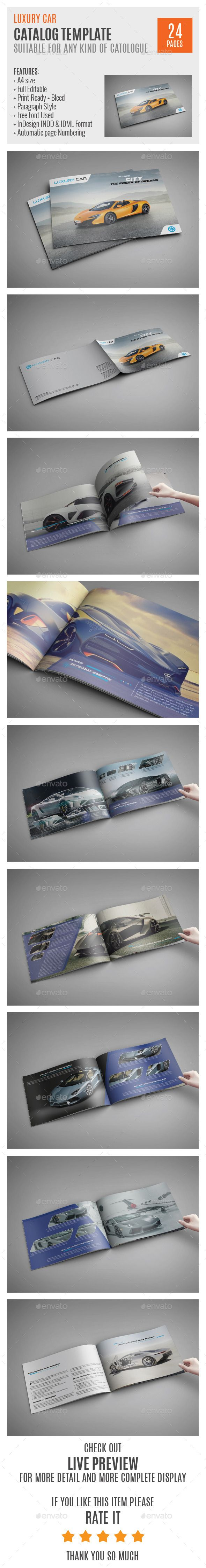 Luxury Car InDesign Catalog Template 0021 | Luxury cars, Template ...