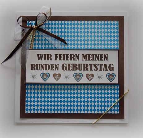 einladung für eine bayrisch angehauchte geburtstagsfeier, Einladungen