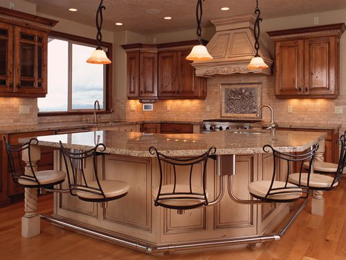Add Your Kitchen With Kitchen Island With Stools: Snack Bar 1 Frame Style: Inverted Chair Style: Waterbury
