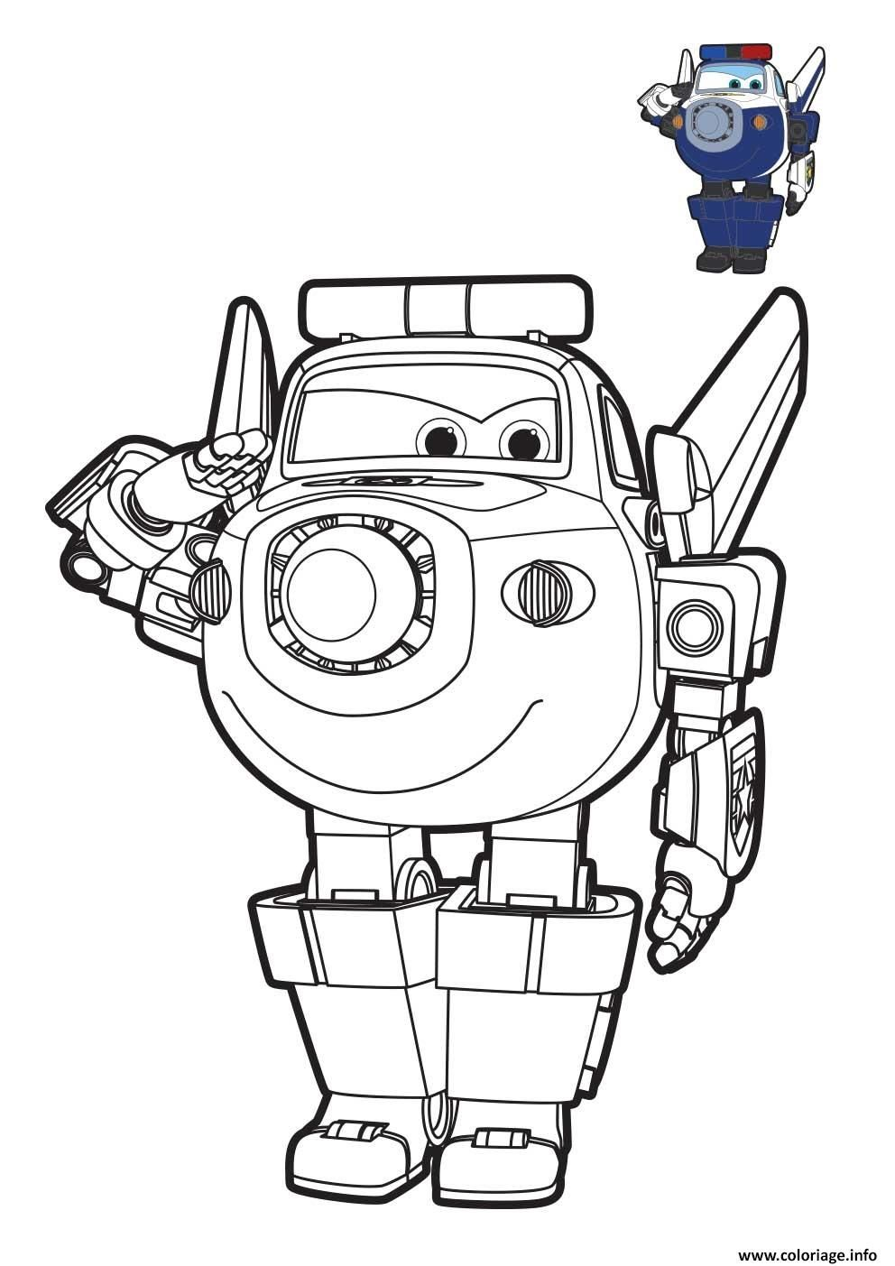 Coloriage Super Wings Paul Robot Dessin A Imprimer Coloriage