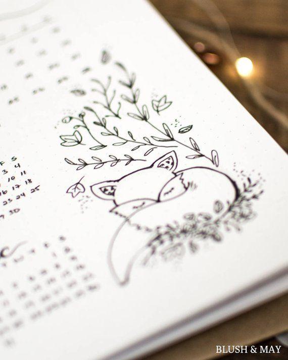 Mise en place complète de blanc (en anglais) Imprimable pour Journal ou Planner – Owl