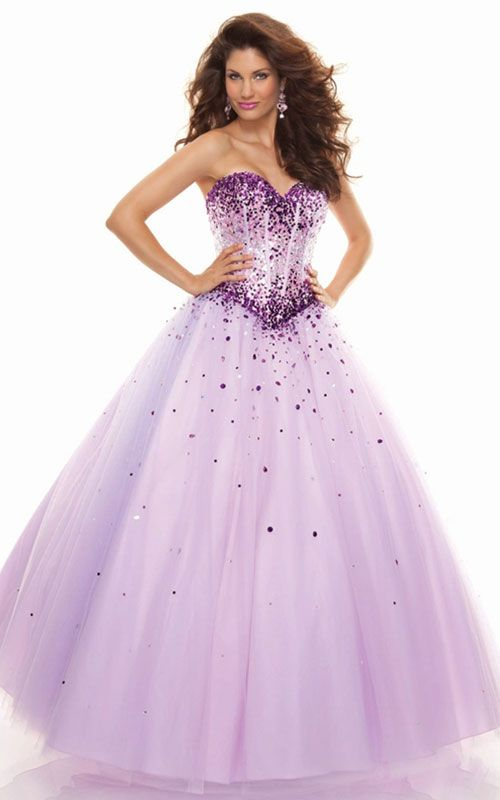 New Purple Long Organza Evening Prom Dress Party Ball Gown Quinceanera Dress
