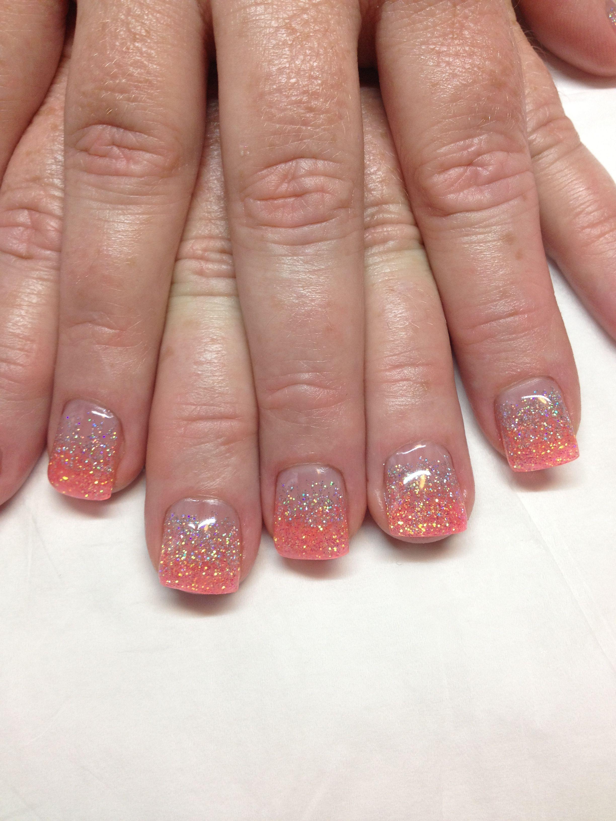 coral color tips LOVE!!!! I want!!Gel Nails | nails | Pinterest ...