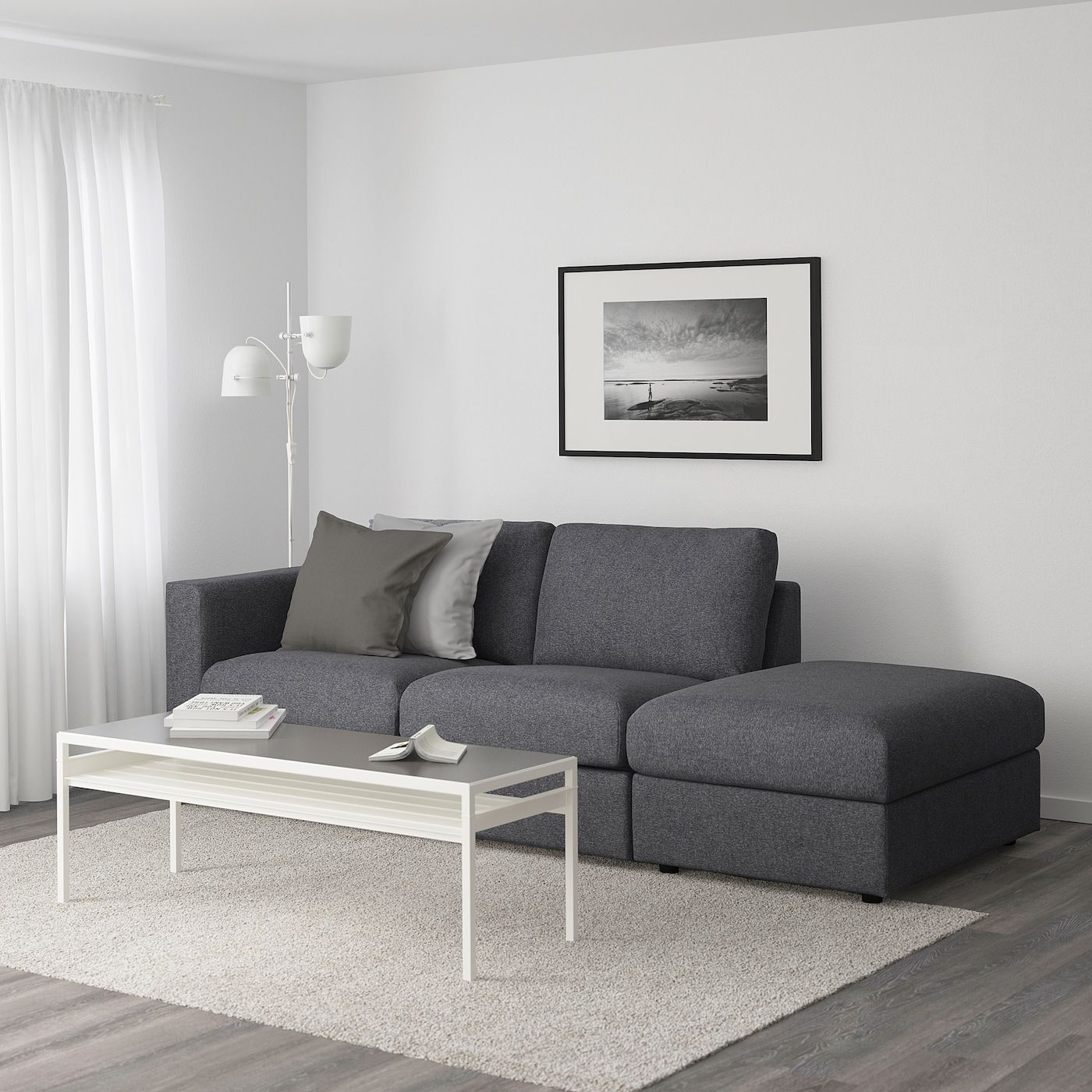 Ikea Vimle 3er Sofa Ohne Abschluss Gunnared Mittelgrau In 2020 3er Sofa Sofa Stoff 2er Sofa