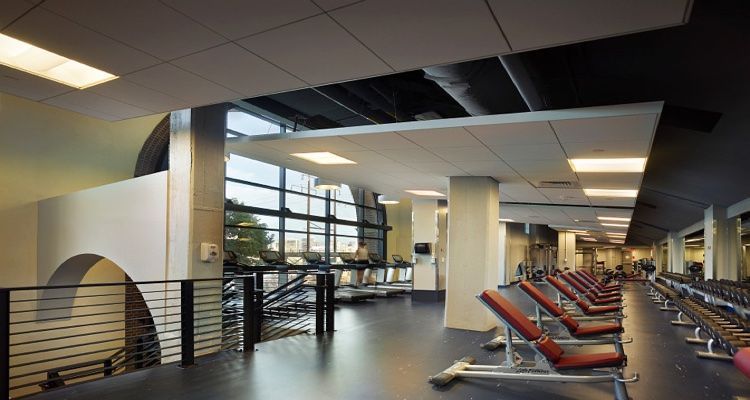 The University Of Pennsylvania S David Pottruck Health And Fitness Center Strength Training Equipment Modern University Fitness Center