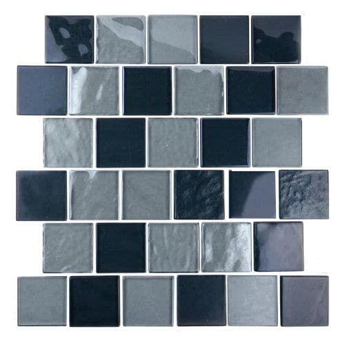 Miseno Mt Scenery2sq Scenery 2 X 2 Glass Visual Wall Tile Sold By Sheet Backsplash Walle Cocinas