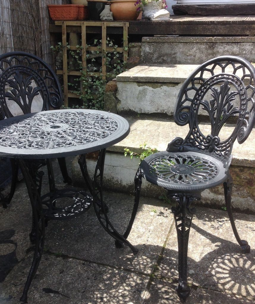 Metal Garden Table And Two Chairs On Gumtree Metal Aluminium