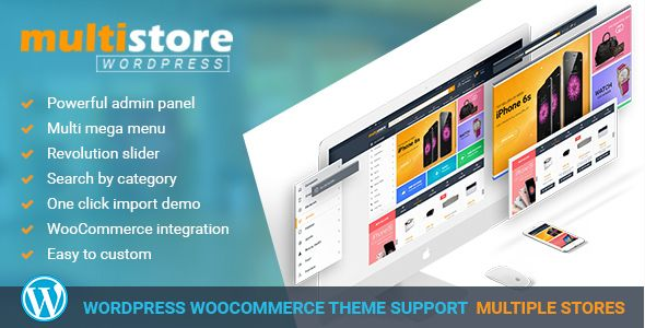 MultiStores - WordPress WooCommerce Theme Support Multiple Stores ...