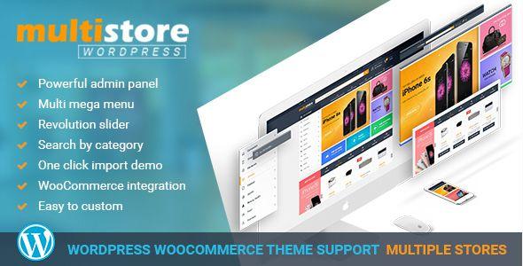 WP MultiStore | Wordpress Marketplace Theme Integrated