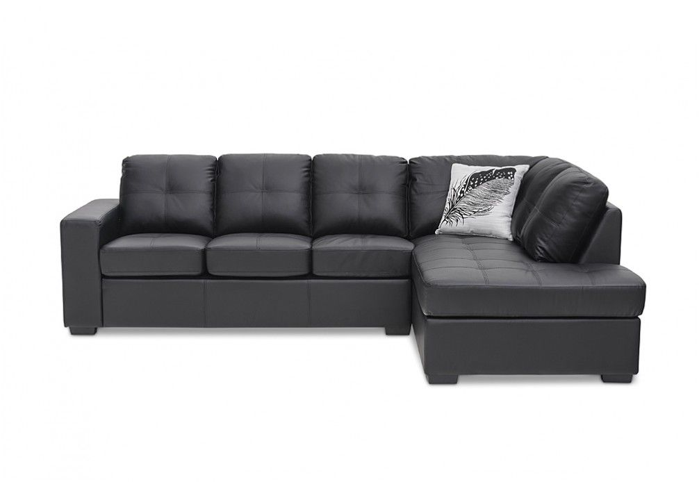 Diamond Leather-Look Corner Chaise Suite | Super Amart ...