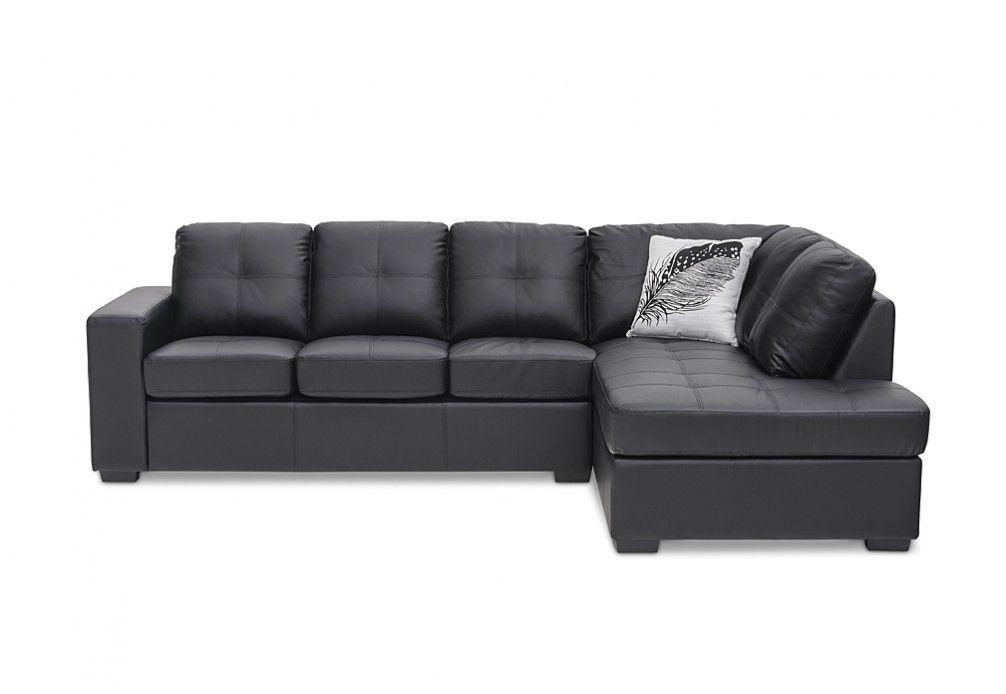 Diamond Leather Look Corner Chaise Suite Super Amart