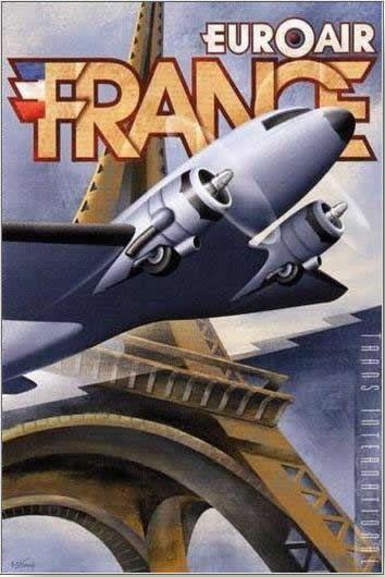 art deco aeroplane flight travel posters - Google Search