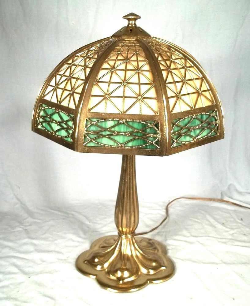 AA Antique Noveau Pairpoint Signed Lamp Base & Reverse