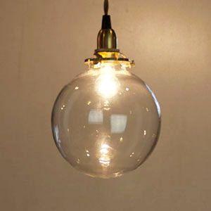 クリアガラスペンダントライト ラウンド ペンダントライト ランプシェード 天井照明
