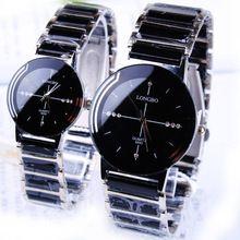 Hot Selling Classic quartz lovers watch ceramic watch waterproof gift Woman watch 2016 new LONGBO Men luxury Brand Wristwatches(China (Mainland))