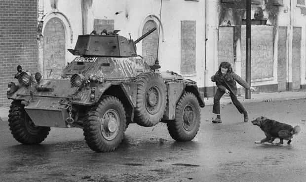 The Northern Ireland Insurgency Some Armoured Vehicles Pictured Northern Ireland Derry Northern Ireland Troubles
