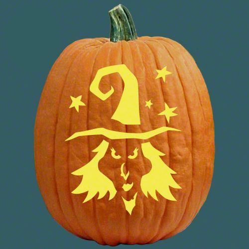 Black Magic Pumpkin Carving Pumpkin Carving Patterns Witch Pumpkin Stencil