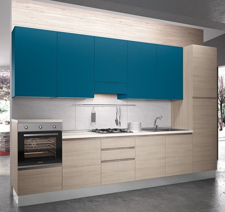 Cucina+componibile+,+Tatiana.++-+Basi+in+essenza+Olmo+Astoria,+ ...