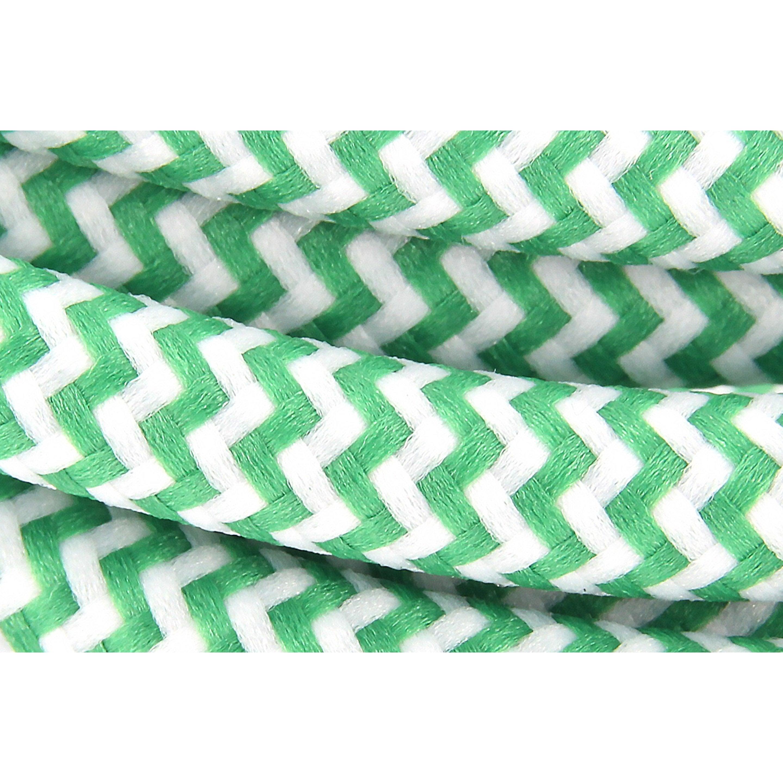 Cable Textile Soie Zigzag Vertho3vv F 2x0 75mm2 3m Chacon Textiles Et Domotique